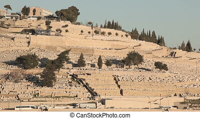 Mount of Olives in Jerusalem - Shot of Mount of Olives in...
