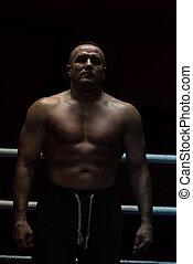 Retrato,  kickboxer,  Muscular, profissional