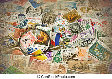 Vintage Stamp Collection