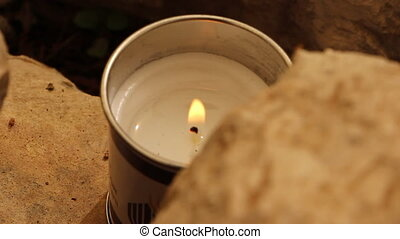 Memorial day candle - Shot of Memorial day candle