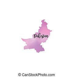 Abstract Pakistan map