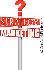 strategy marketing sign
