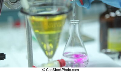 Medical experiments and biochemical tests - Shot of Medical...