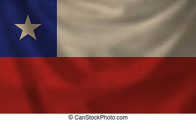 Flag of Chile. - Vintage background with flag of Chile....