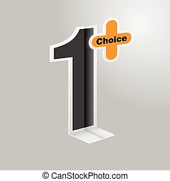 Special number one chioce symbol