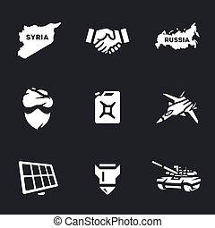 Vector Set of Antiterrorist operation Icons. - Syria,...