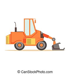 Bulldozer Loader Truck Machine , Part Of Roadworks And...