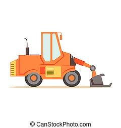 Bulldozer Loader Truck Machine , Part Of Roadworks And...