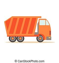 Big Heavy Orange Truck , Part Of Roadworks And Construction...