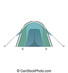 The blue colored tent