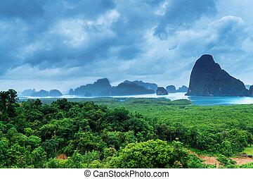 View of the Bay of Phang Nga