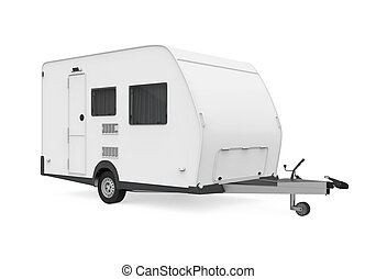 Travel Trailer Isolated