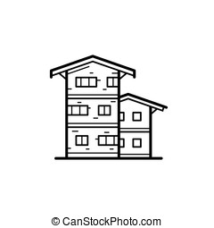 City buildings vector illustration - Icon of a building for...