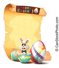 Paper template with easter bunny