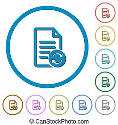 Refresh document icons with shadows and outlines - Refresh...