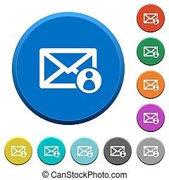 Mail sender beveled buttons - Mail sender round color...