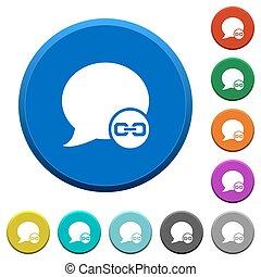 Blog comment attachment beveled buttons - Blog comment...