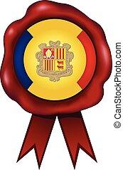 Andorra Wax Seal - Andorra wax seal.
