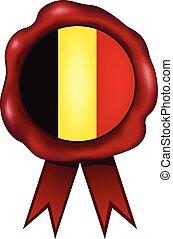 Belgium Wax Seal - Belgian wax seal.