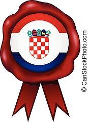 Croatia Wax Seal - Croatia wax seal.