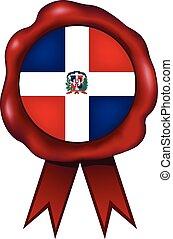 Dominican Republic Wax Seal - Dominican Republic wax seal.