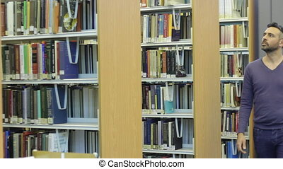 Man in library - Shot of Man in library