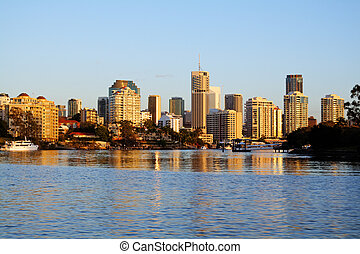 Brisbane City Skyline Australia - Brisbane city skyline...