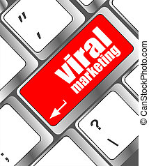 viral marketing words on computer keyboard key
