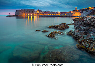 Dubrovnik. - Beautiful romantic old town of Dubrovnik during...