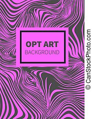 Striped pink opt art - Striped black and pink opt art....