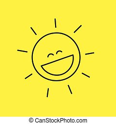 laughing smiley sun