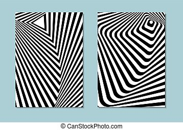 black and white opt art - Striped black and white opt art....