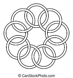 pattern of the binding rings, chain links, round rings,...