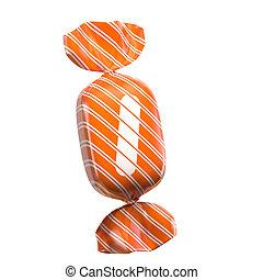Candy 3d font letter I