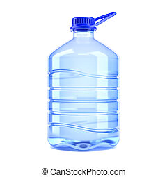 Big bottle of water on a white background