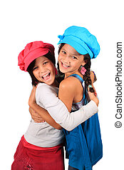Sweet little sisters - Pretty young girls in the ages of...