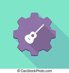 Long shadow gear with a six string acoustic guitar -...