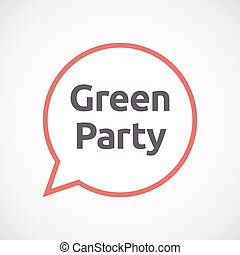 Isolated comic balloon with  the text Green Party