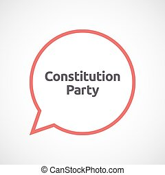 Isolated comic balloon with  the text Constitution Party