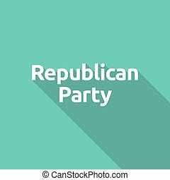 Illustration of the text Republican Party - Long shadow...