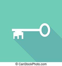 Illustration of   a vintage key