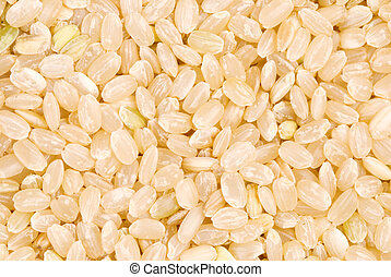 brown rice as background