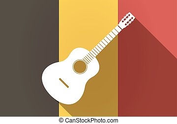 Long shadow Germany flag with a six string acoustic guitar -...