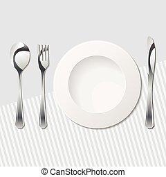 Eps vektor von tisch besteck essen proper arrangement for Besteck tisch