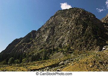 Beautiful mountain with blue skys, in swat valley kpk...