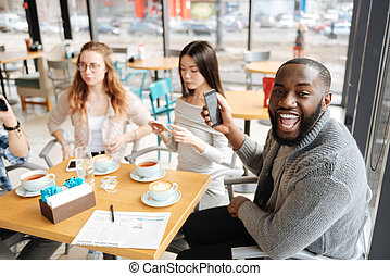 International students spending time together - Very...