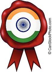 India Wax Seal - Indian wax seal.