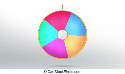 lucky wheel fortune five color - Lucky spin represent the...