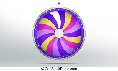 lucky spin twirl eighteen purple 4K - Lucky spin represent...