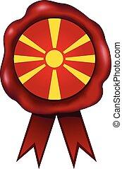 Macedonia Wax Seal - Macedonian wax seal.